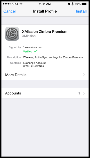 Hosted Email:iOS - XMission Wiki