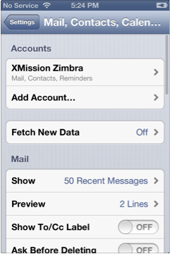 IOS6-zimbra-account-configured.png